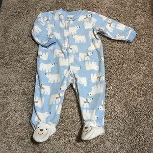 Carter's polar bears fleece footie pajamas